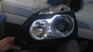 Renault Clio Mini H1 Bi-xenon projector retrofit