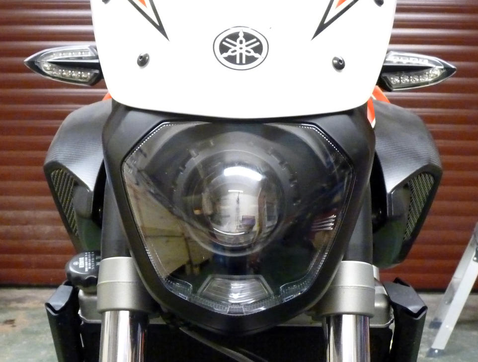 Yamaha MT07 bi-xenon projector installation