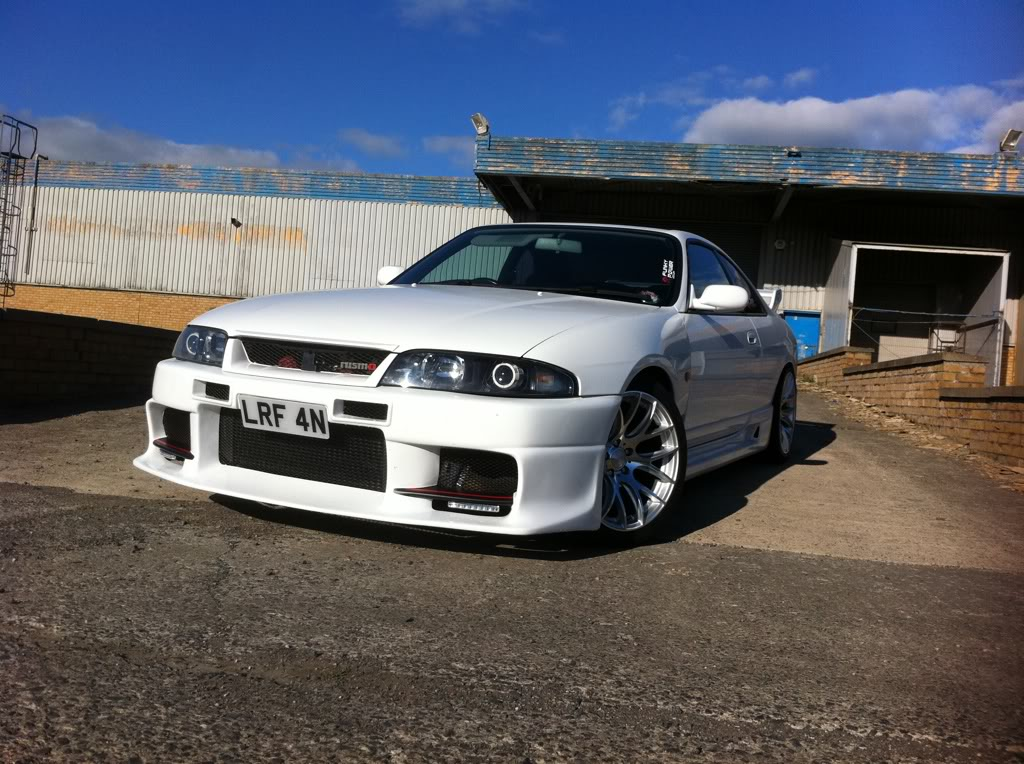 Nissan Skyline R33 Mini H1 reflector headlight retrofit