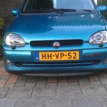 Opel Corsa B Xenon mounted on car