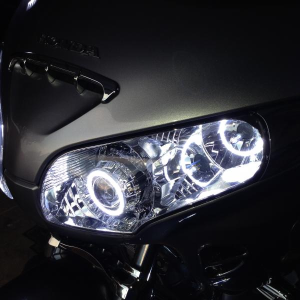 Honda GL1800 bi-xenon retrofit (quad set-up)