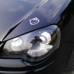 Volkswagen Polo 9N Xenon on car closeup